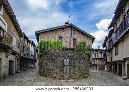 Alberca, Salamanca, Spain; June 2015: Streets And Buildings Of The Medieval Village Of La Alberca In