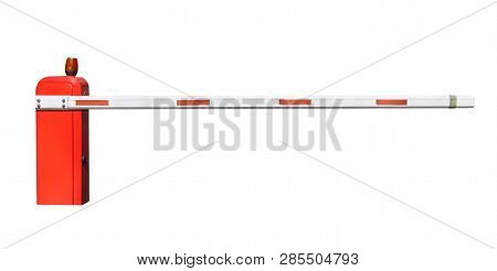 Automatic Entry Barrier System Isolated On White. Clipping Path Included.