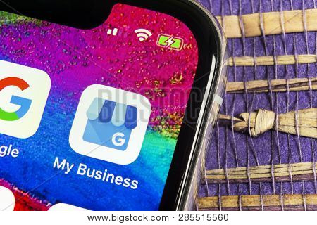 Sankt-petersburg, Russia, February 17, 2019: Google My Business Application Icon On Apple Iphone X S