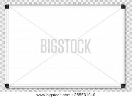 Empty White Marker Board. Vector Illustration Concept Image Icon