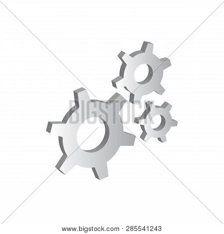 3D  Illustration Of Gears, Cogwheels Or Cogs