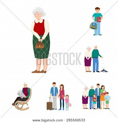 Vector Design Of Family  And People Logo. Collection Of Family  And Avatar  Stock Symbol For Web.