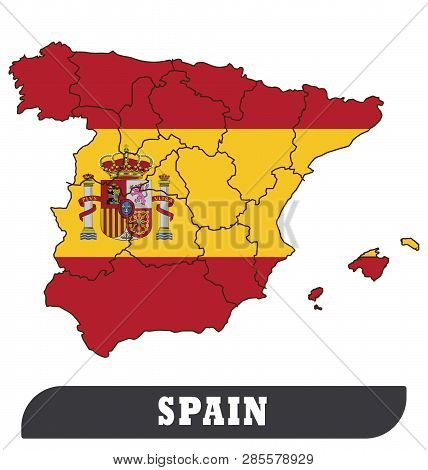 Map Of Spain Drawing.Spanish Map Spanish Vector Photo Free Trial Bigstock
