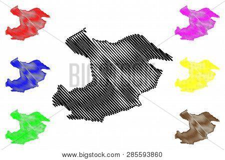 Qazvin Province (provinces Of Iran, Islamic Republic Of Iran, Persia) Map Vector Illustration, Scrib