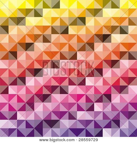 Abstract background - Combination of triangle and square - 512 Colors used in attractive gradual method poster