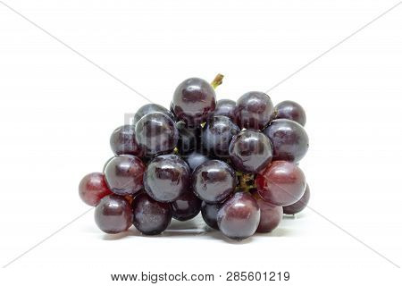 Seedless Grapes Isolated On White Background