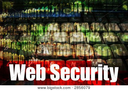 Web Security On A Technology Abstract Background