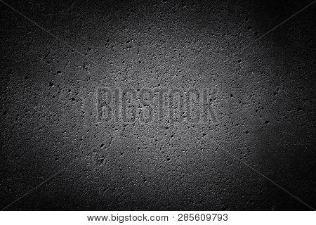 Dark Concrete Texture. Background Grey Texture Of Weathered Concrete.