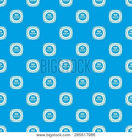 Sea Salvation Pattern Vector Seamless Blue Repeat For Any Use