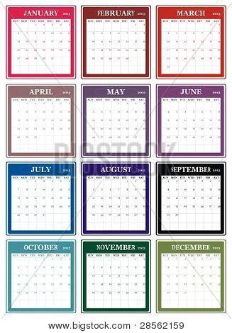 VECTOR - Calendar Design 2013