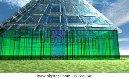 Solid Glass House