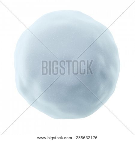 Snowball Isolated on White Background. 3D Illustration.