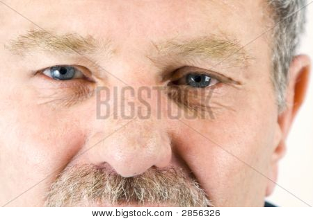 Close Up On The Face Of A Baby Boomer