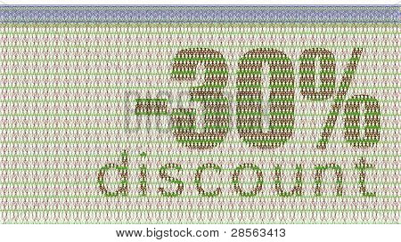 Discount Coupon -30%