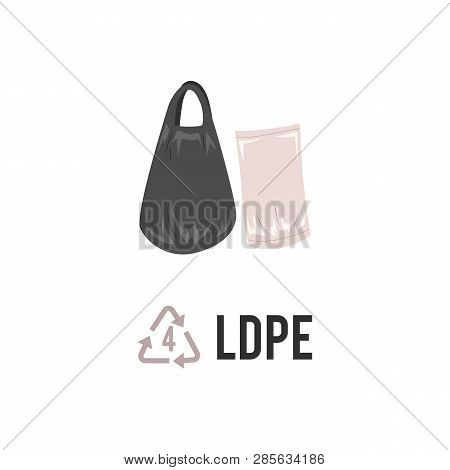 Plastic Recycling Icon, Symbol And Sign Peld, Ldpe.
