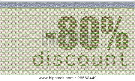 Discount Coupon -80%