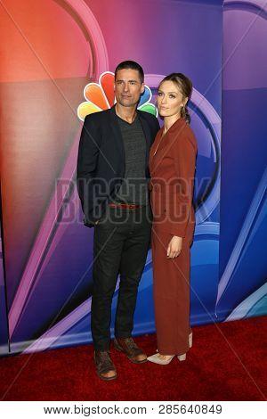 LOS ANGELES - FEB 20:  Warren Christie, Michaela McManus at the NBC's Los Angeles Mid-Season Press Junket at the NBC Universal Lot on February 20, 2019 in Universal City, CA