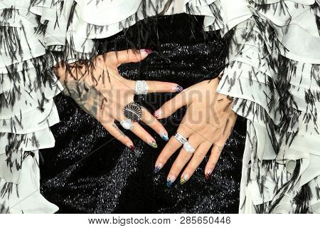 LOS ANGELES - FEB 20:  Rita Ora nail and ring detail at VH1 Trailblazer Honors at the Wilshire Ebell Theatre on February 20, 2019 in Los Angeles, CA