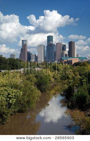 Downtown Houston City Skyline
