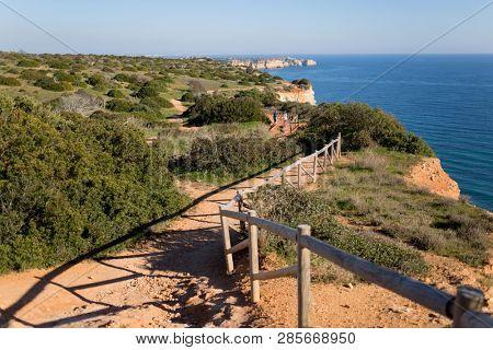 Cliffs in Portugal, Luz - Porto de Mos walk