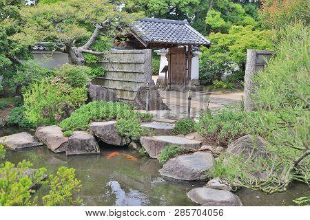 Step Stones Path Over A Pond In Koko En Garden