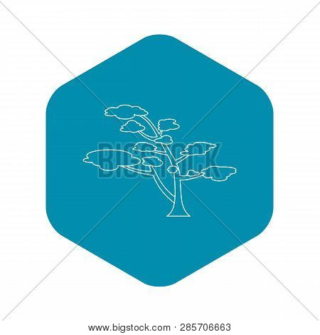 Cedar Icon. Outline Illustration Of Cedar Vector Icon For Web