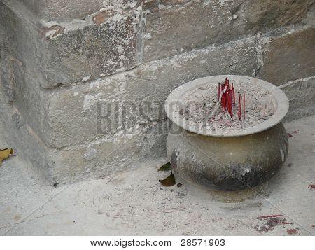 Burnt incense