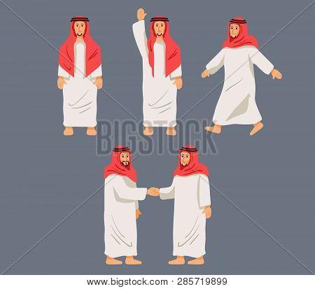 Figurative Character Arabian Men In Some Pose.