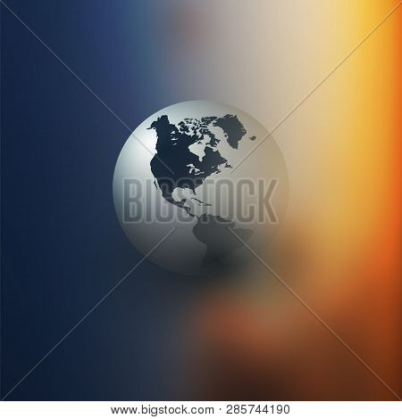 Colorful Earth Globe Design Layout - Applicable For Eco, Globalization, Global Business, Technology