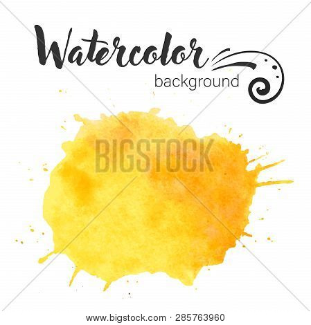 Watercolor Paint Blob Vector. Watercolor Paint Blob Vector Text Box Isolated For Design, Advertise,