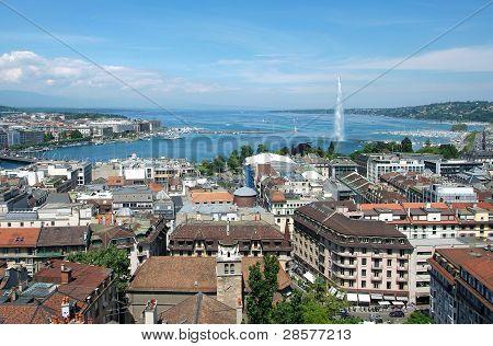 allgemeine Ansicht von Genf