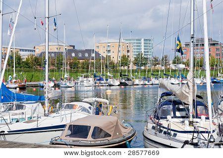 Urban Anlegestelle der Boote in Kopenhagen, Dänemark