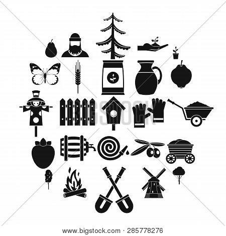 Mound Icons Set. Simple Set Of 25 Mound Icons For Web Isolated On White Background