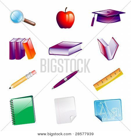 School Objects Icons
