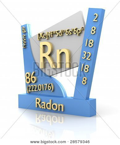 Radon form Periodic Table of Elements - 3d made poster
