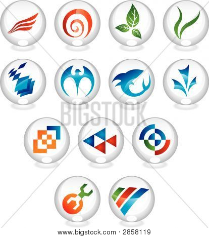 various icons in glass