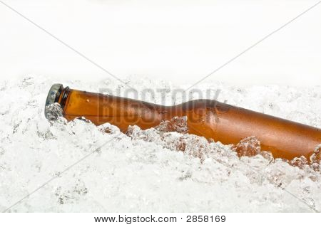 Bottle Of Beer On Ice.