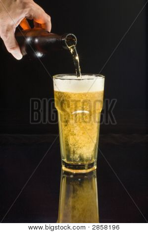 Pouring Cold Beer
