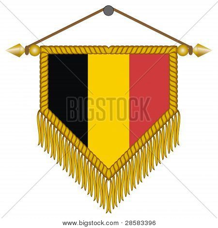 vector pennant with the flag of Belgium