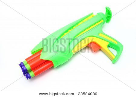 Isolated Toy Foam Dart Gun