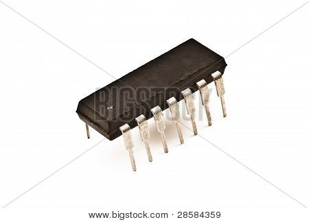 Microchip On The White Background