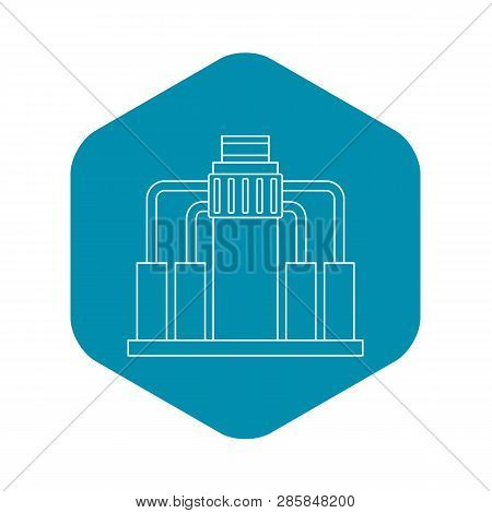 Oil Refining Icon. Outline Illustration Of Oil Refining Vector Icon For Web