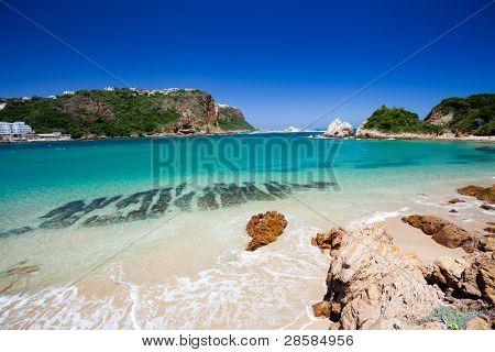 poster of beach in Knysna, Western Cape, South Africa