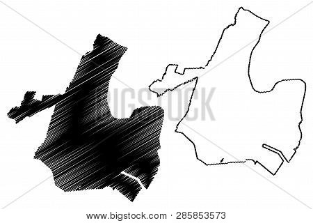 Newark City (united States Cities, United States Of America, Usa City) Map Vector Illustration, Scri