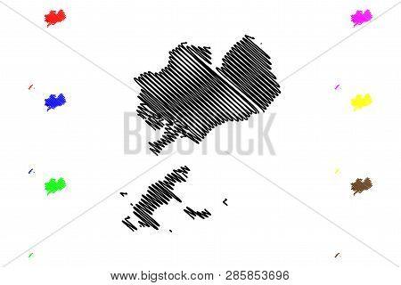 Ba Ria-vung Tau Province (socialist Republic Of Vietnam, Subdivisions Of Vietnam) Map Vector Illustr