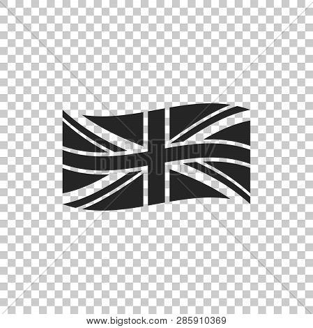 Flag Of Great Britain Icon Isolated On Transparent Background. Uk Flag Sign. Official United Kingdom