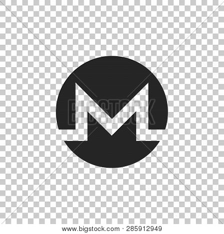Cryptocurrency Coin Monero Xmr Icon Isolated On Transparent Background. Physical Bit Coin. Digital C