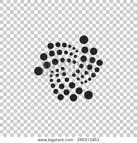 Cryptocurrency Coin Iota Miota Icon Isolated On Transparent Background. Physical Bit Coin. Digital C