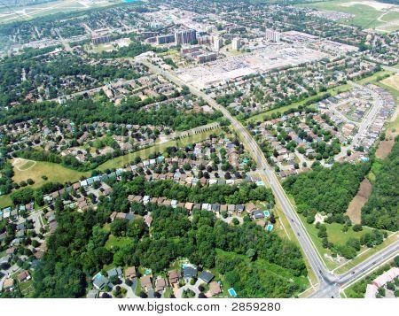 Vista aérea da área residencial