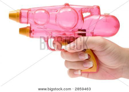 Holding A Water Pistol